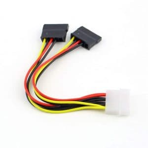 Splitter 2x SATA (f) via 1x Molex (4plots) (m)